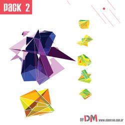 PACK 3D ABSTRACT SHAPES