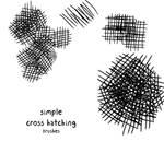 Crosshaching brushes