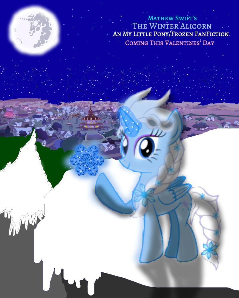 The Winter Alicorn  Winter in Ponyville by MathewSwiftVA on