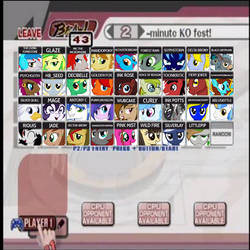 Super Smash Bronies - Character Selection