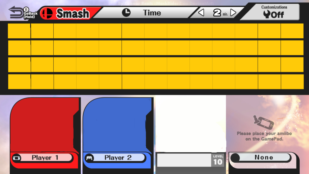 Super Smash Bros Wii U Character Roster Base By Mathew Swift Va On