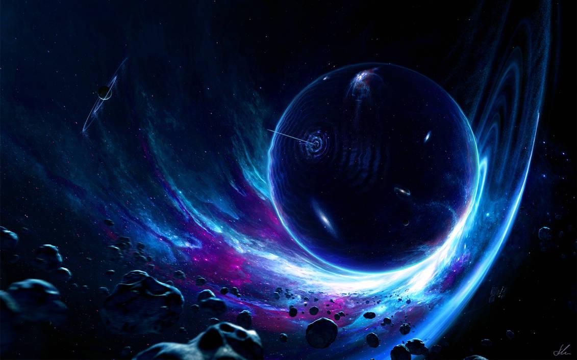 Плавающие Космические Обои На Экране