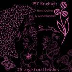 PS7Brushset-Floral Outlines