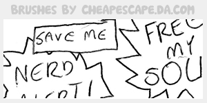 Speech Bubbles Brushes by cheapescape