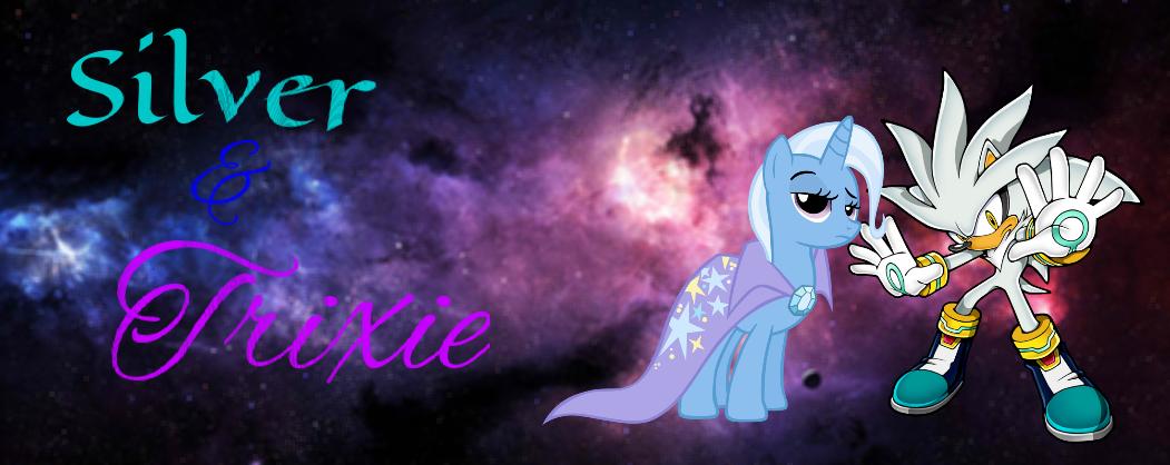 Silver The Hedgehog and Trixie by RainbowSupernova