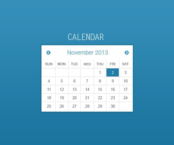 Free Calendar .PSD