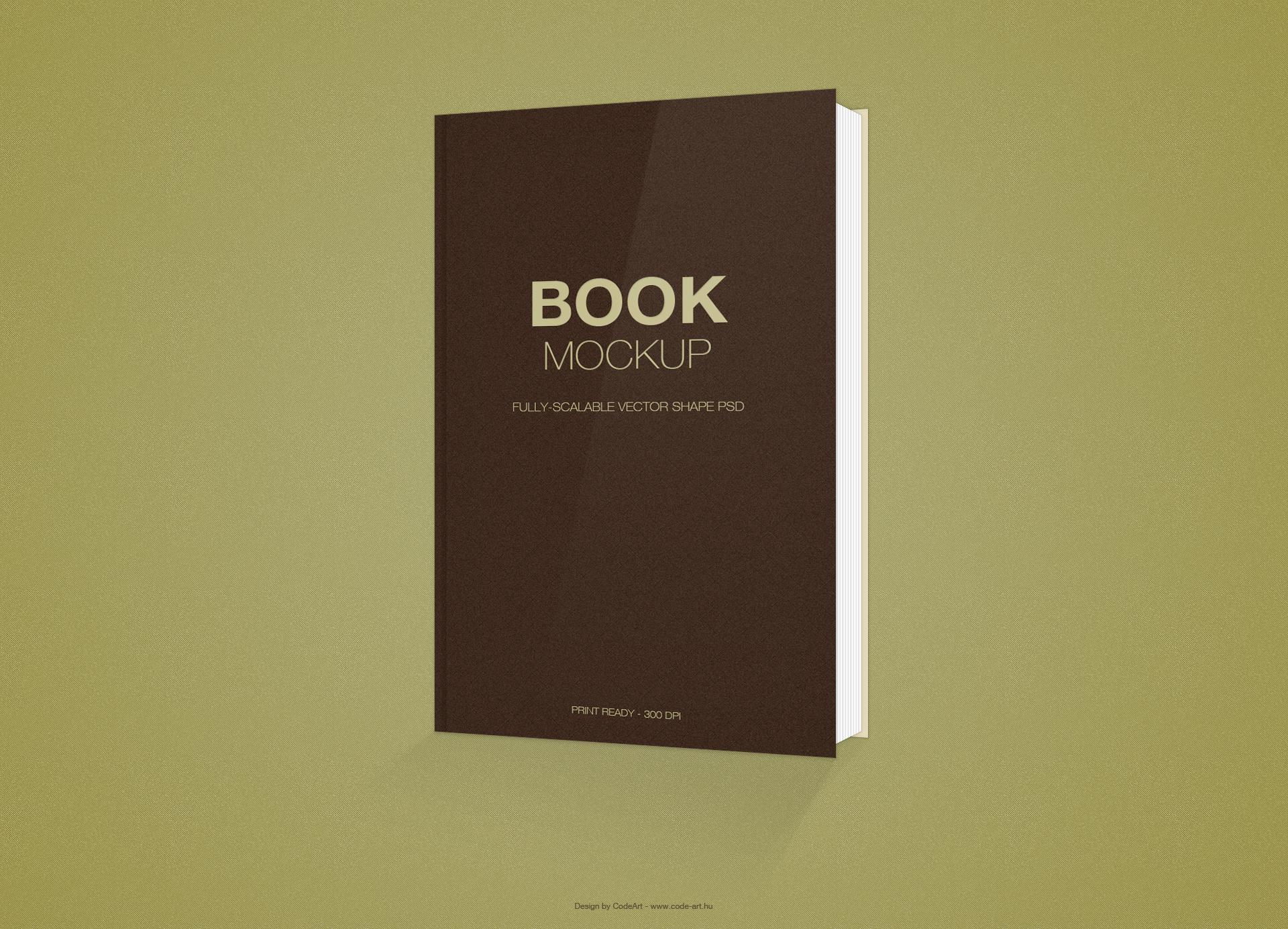 Free Book Mockup .PSD