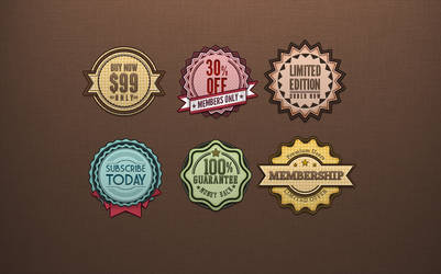 Free Badges .PSD
