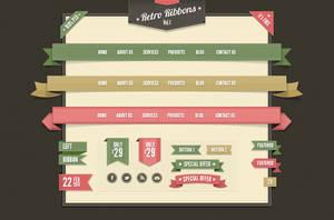 Free Web Ribbons .PSD by YesIMaDesigner