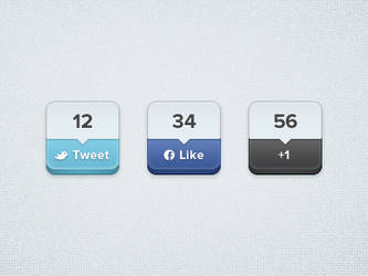 Free Buttons .PSD by YesIMaDesigner