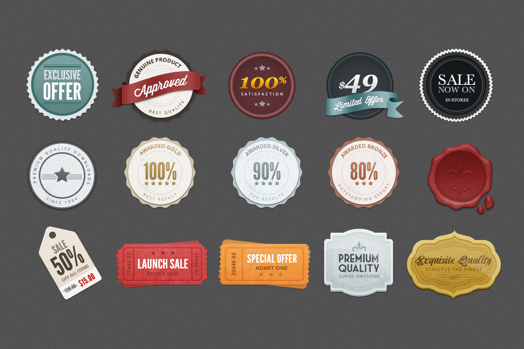 Free Badges .PSD