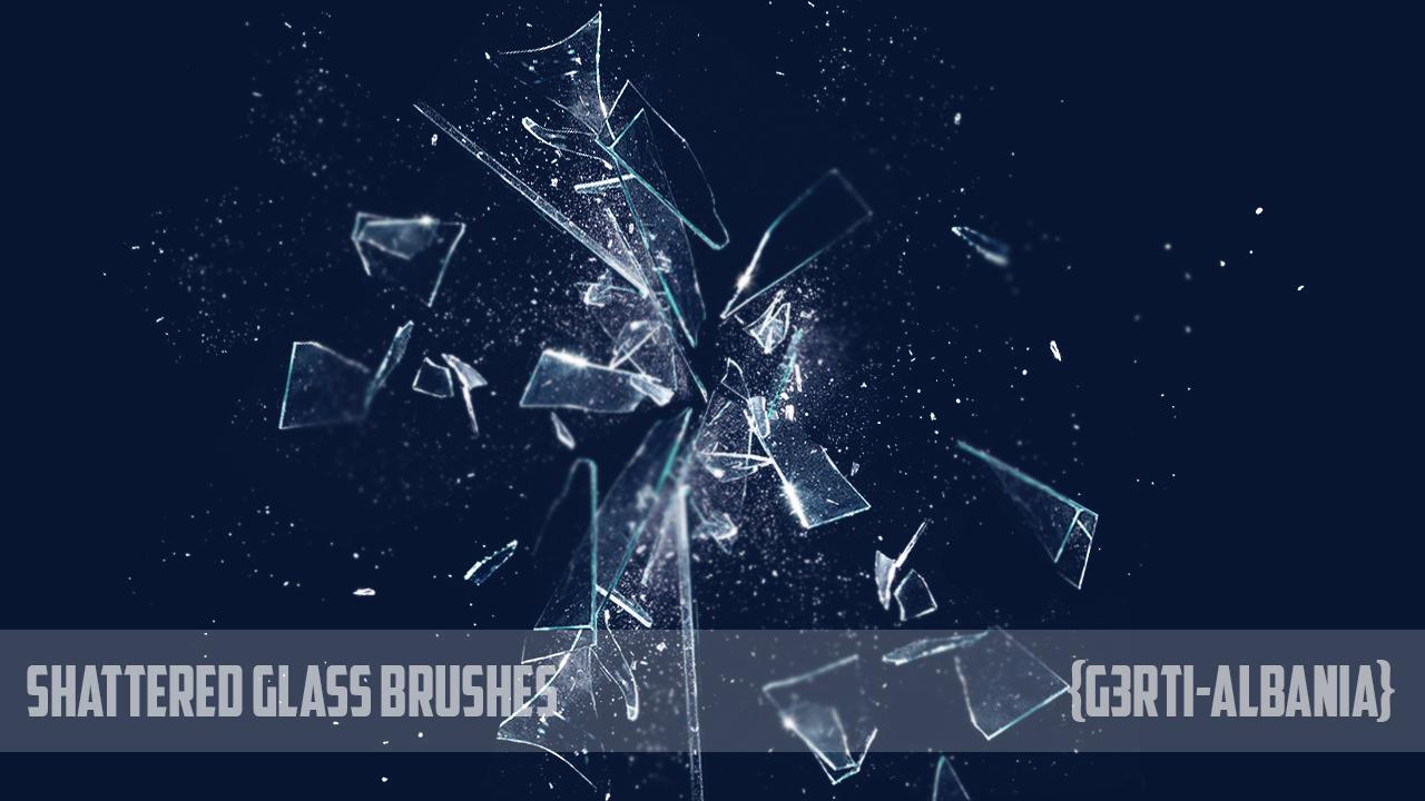 Photoshop Shattered Glass Brushes {G3RTI-ALBANIA}