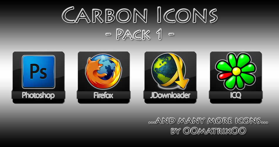 Carbon Icons Pack 1 by OOmatrixOO