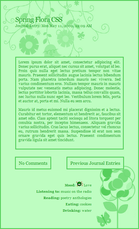 Spring Flora CSS Easy Install by moonfreak