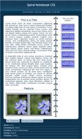 Spiral Notebook Journal Skin