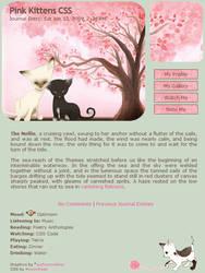 Pink Kittens Journal Skin by moonfreak