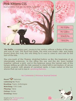Pink Kittens Journal Skin