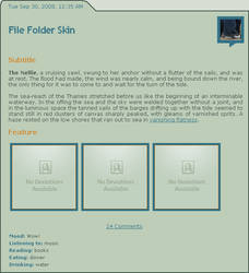 File Folder Journal Skin