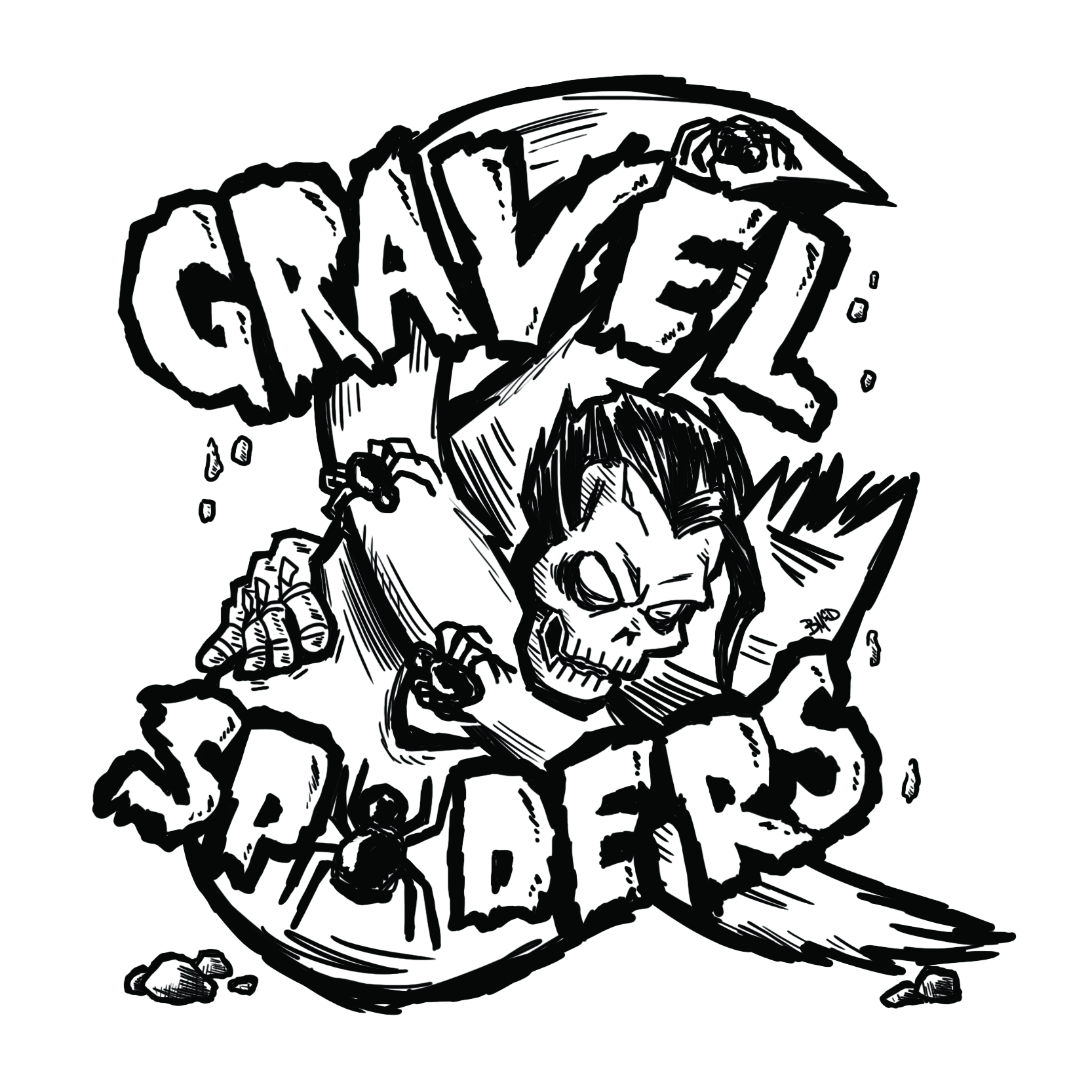 gravel + spiders logo