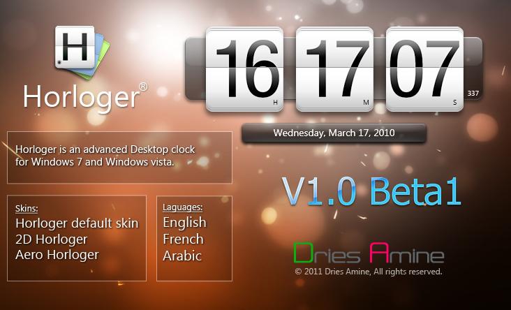 Horloger V1.0 Beta1