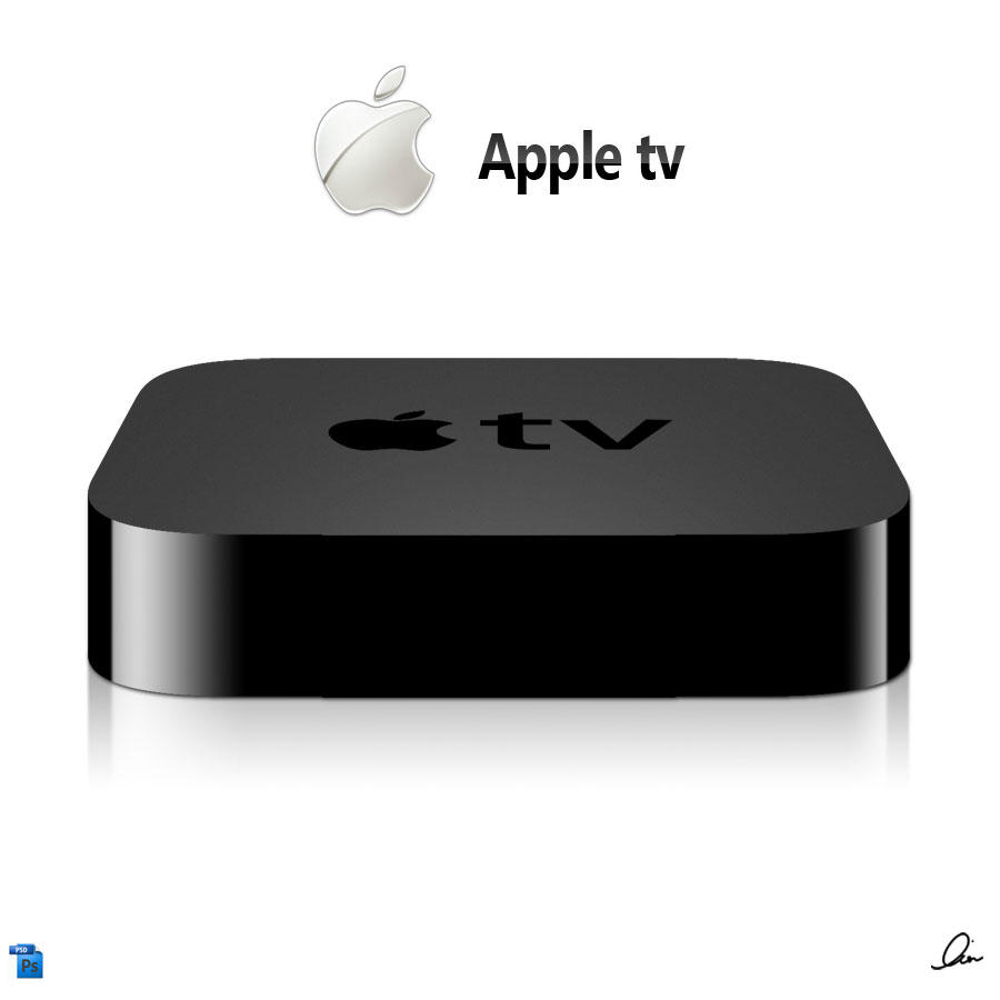 Apple tv .PSD by RezzF