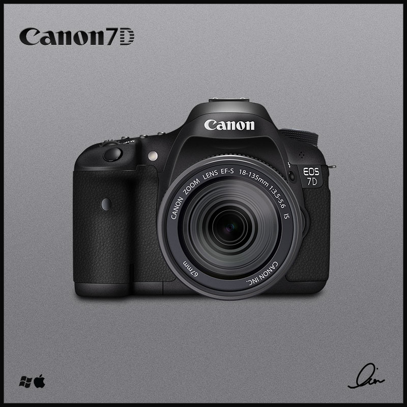 Canon 7D Icon by RezzF