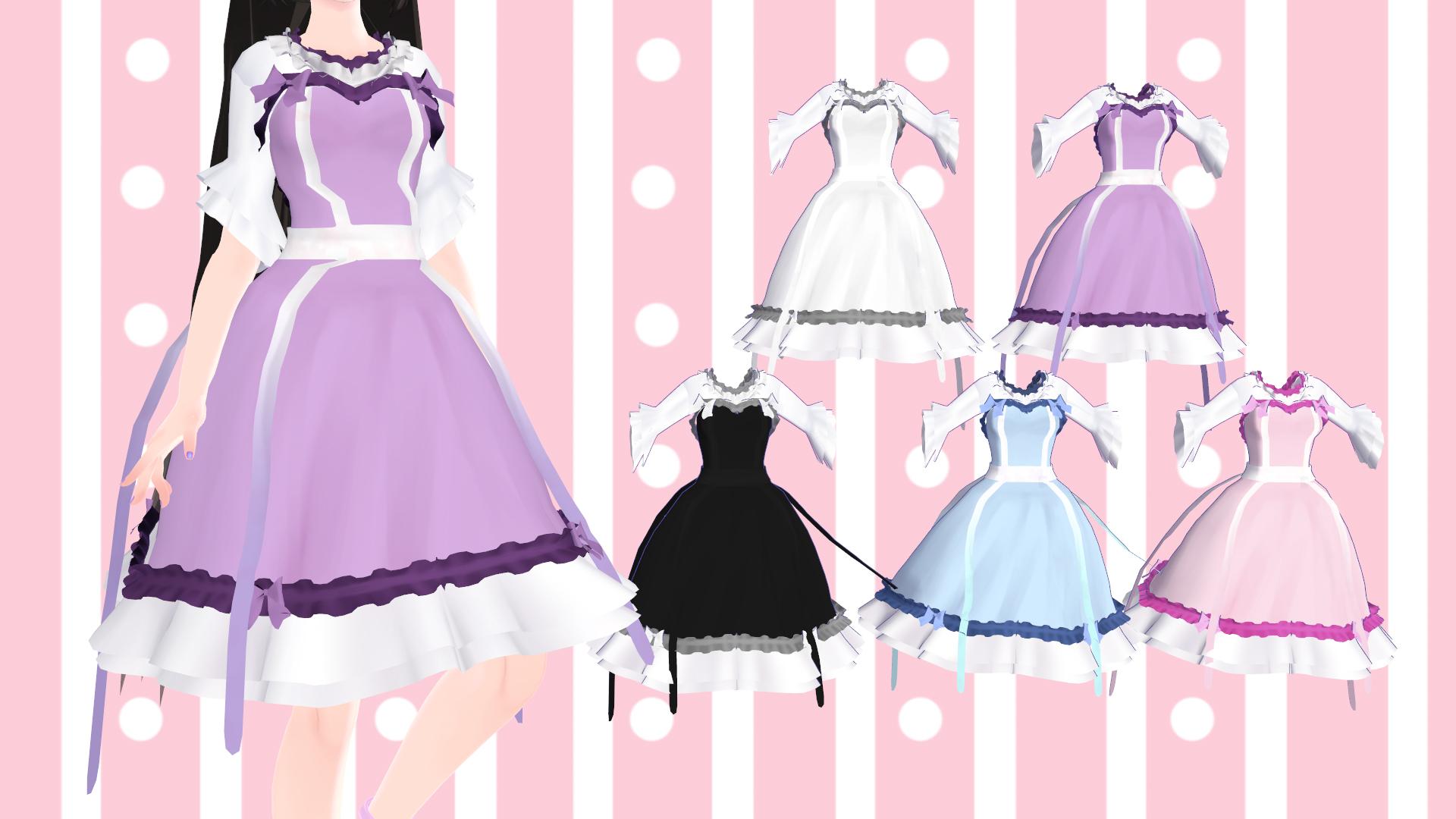MMD] Cute Pastel Dress [DL] by TMoonlightA on DeviantArt