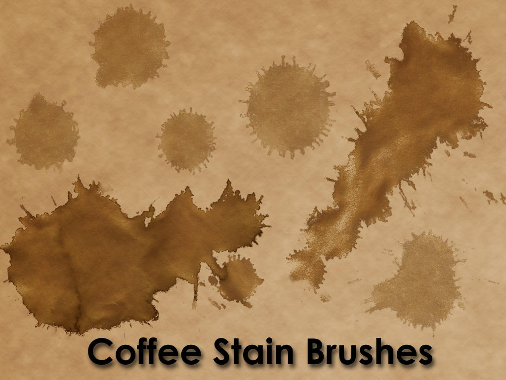 Coffee Stain Brushes by KnightRanger