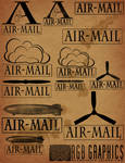 Airmail Brushes for Photoshop