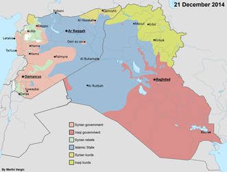 Syrian Civil War and Iraqi insurgency - Timelapse by JaySimons