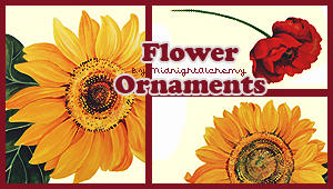 Flower ornaments by MidnightAlchemy