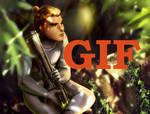 Jungle steps GIF
