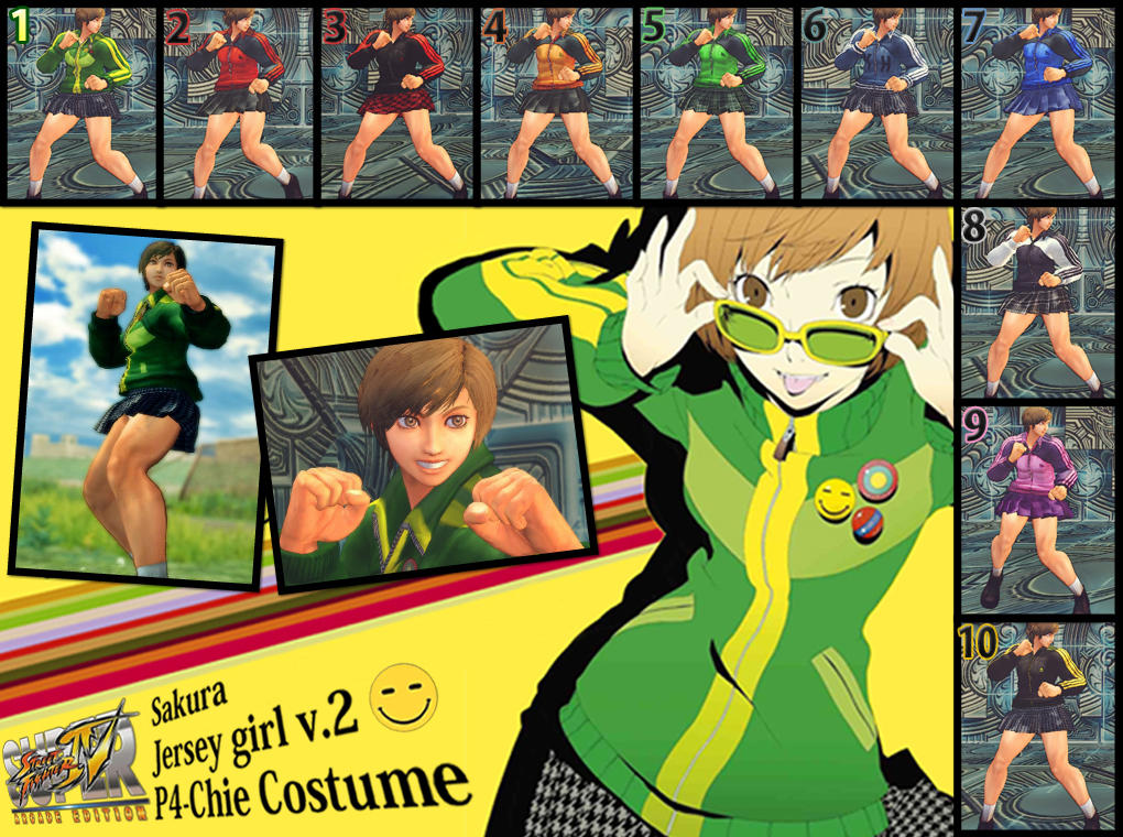 SSF4AE Sakura Persona4 Chie Costume MOD by dsFOREST