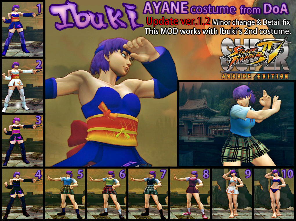 SSF4AE Ibuki Ayane costume MOD ver.1.2 by dsFOREST