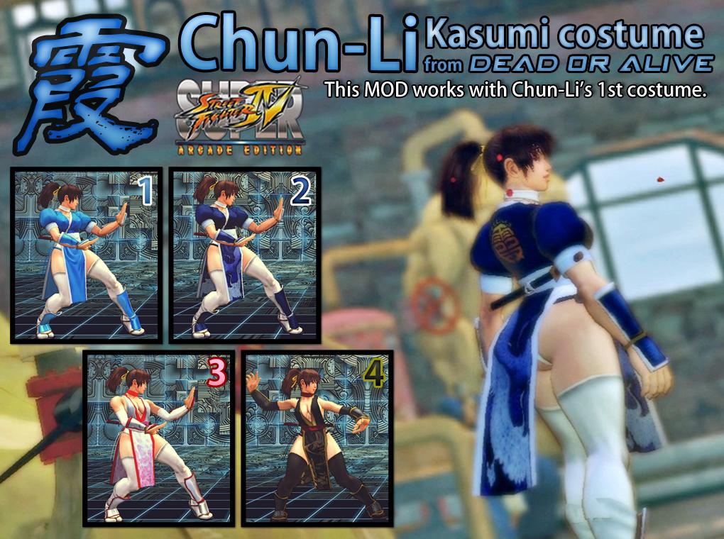 SSF4AE Chun Li Kasumi costume MOD by dsFOREST
