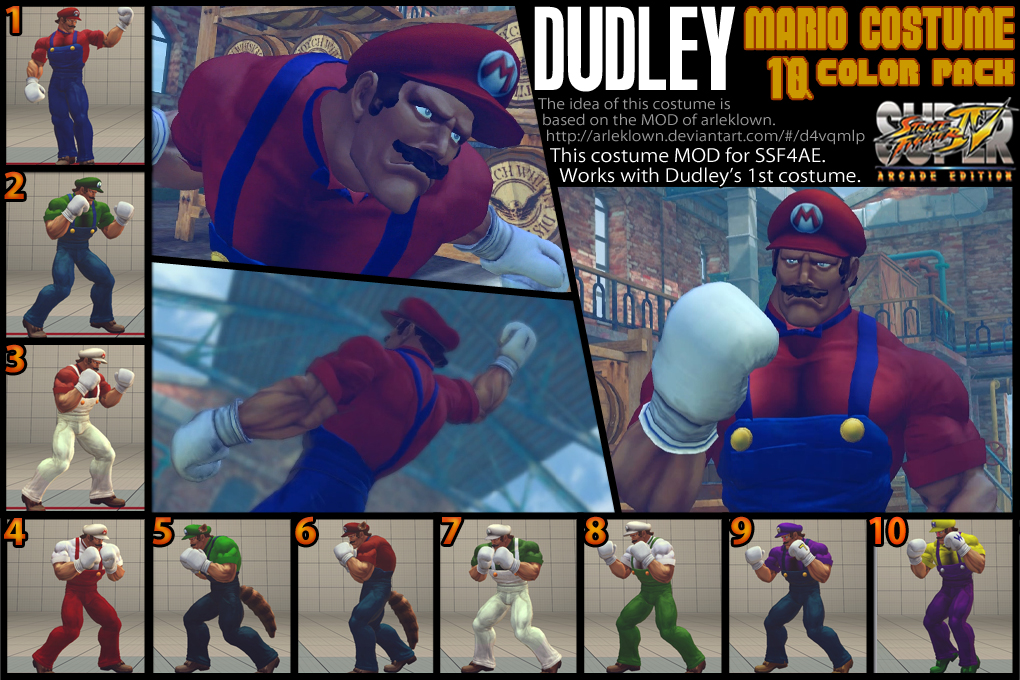 SSF4AE Dudley - Mario costume MOD by dsFOREST