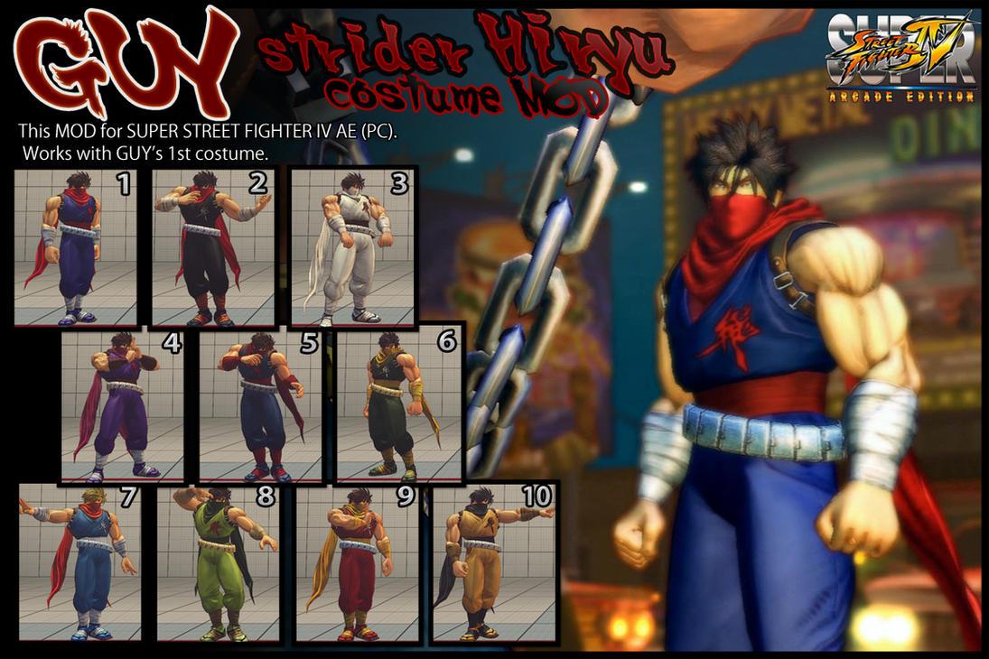 SSF4AE GUY - strider Hiryu costume MOD by dsFOREST