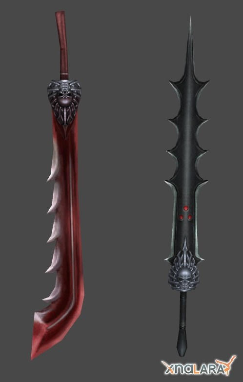 FF X2 - Paine's Dark Knight and Samurai Swords by xHolyxLightx