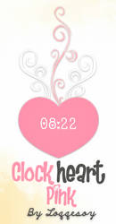 Clock Heart Pink For Rainmeter by Loqqesoy