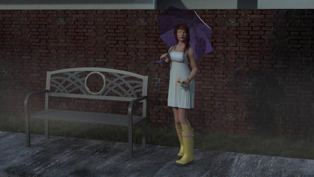 Cosette in the Rain - Dynamic Still
