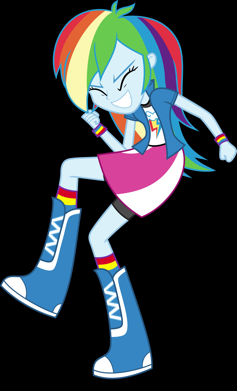 Equestria Girls - Rainbow Dash by Givralix on DeviantArt