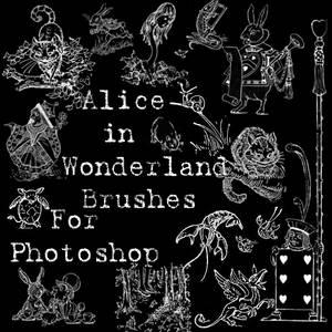 Alice in Wonderland Brushes