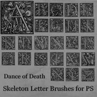 Skeleton Letter Brushes by BohemianResources