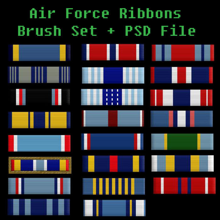 Air Force Ribbons Brush Set By Bohemianresources On Deviantart