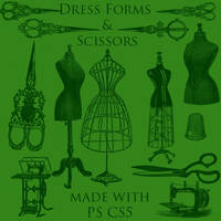 Scissors and Dress Forms by BohemianResources