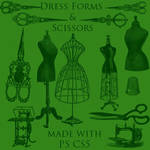 Scissors and Dress Forms