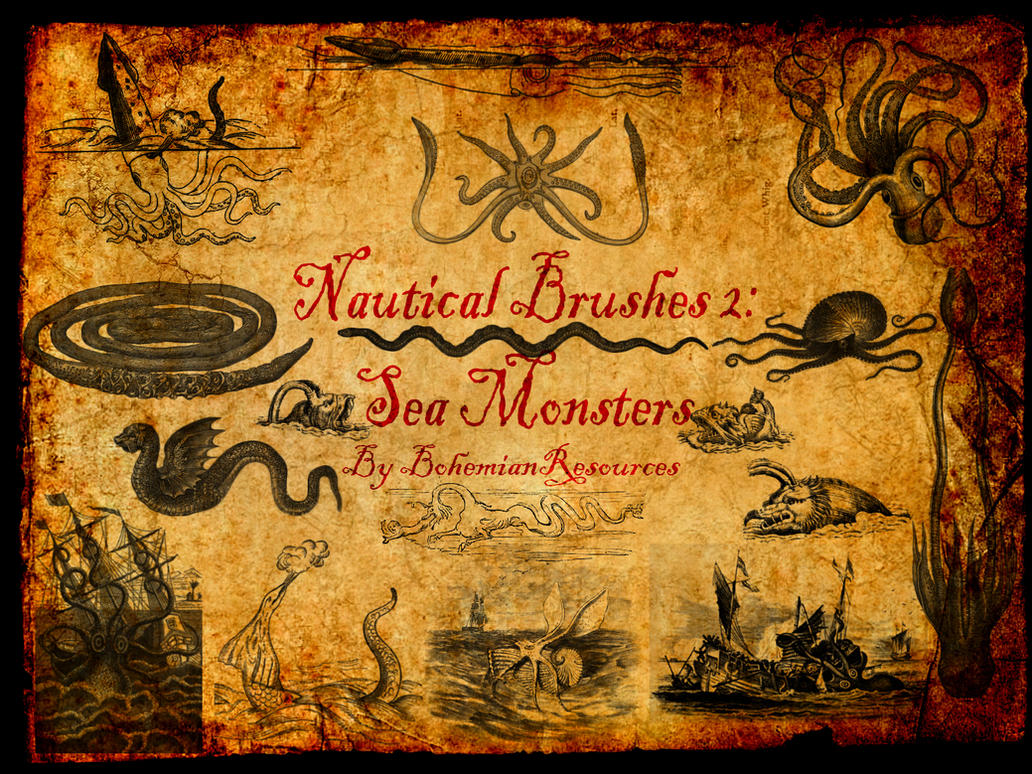 Nautical Brushes2: Sea Monsters by BohemianResources