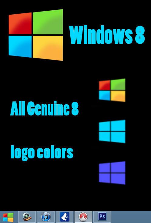 Windows 8 start button genuine look by MRphotoshopIT
