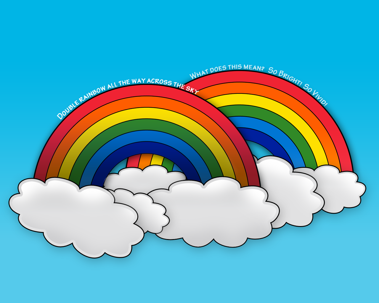 Nature, Double Rainbow, Background Wallpapers - digital ...  |Double Rainbow Wallpaper