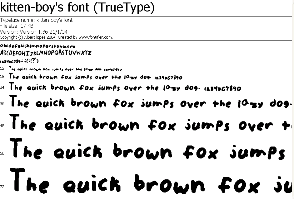 Kitten-boys font by kitten-boy